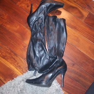 Chinese Laundry Stilletto Leather Boots
